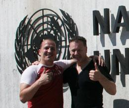 Carl Emery and Billy Murray will be at the UN in Geneva Switzerland talking about The PeaceFighters initiative this Friday 2014